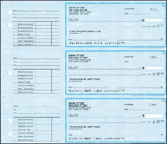 simple blue desk checks