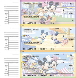 Disney Checks Featuring Mickey Mouse