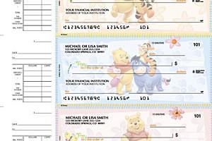 winnie the pooh desk checks