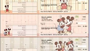 mickey mouse desk checks classic design